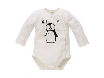 PINOKIO Zavinovací body dlouhý rukáv Happy Day vel. 68 tučňák