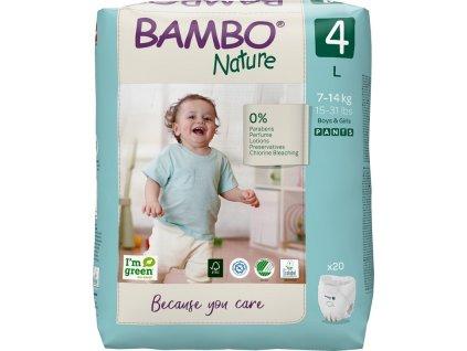 BAMBO Nature Kalhotky plenkové jenorázové Pants 4, 20 ks, 7-14 kg