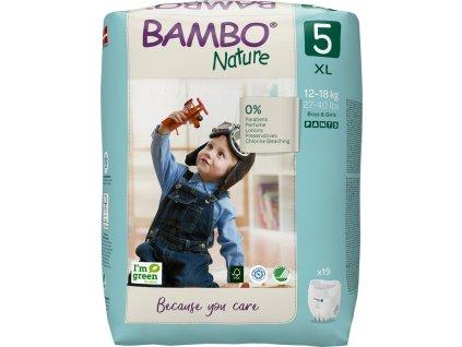 BAMBO Nature Kalhotky plenkové jenorázové Pants 5, 19 ks, 12-18 kg