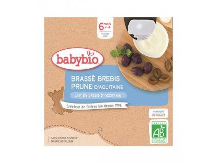 BABYBIO Svačinka z ovčího mléka švestka (4x 85 g)