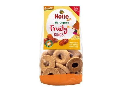 HOLLE Dětské Bio Ovocné kroužky s datlemi, 125 g (3+)
