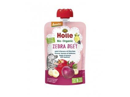 HOLLE Zebra Beet Bio ovocné pyré jablko, banán a červená řepa, 100 g (6 m+)