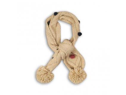 Šála zimní pletená, Minoti, TRIP 23, béžová
