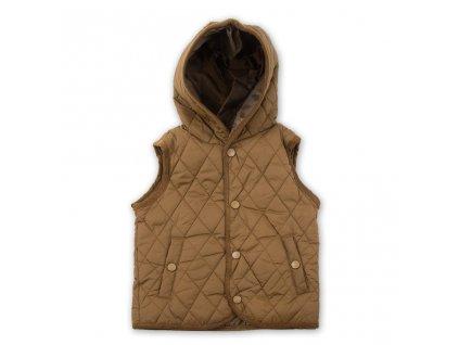 vesta s kapucí, Sobe, 15KECYLK528, hnědá