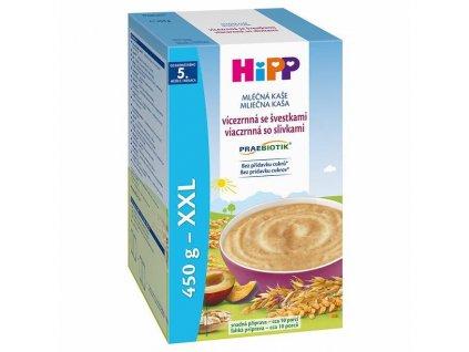 HIPP Kaše mléčná Praebiotik vícezrnná se švestkami