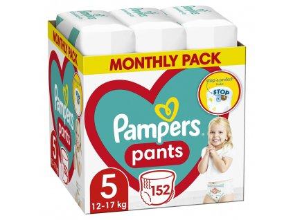 PAMPERS Pants 5 Active Baby Dry 152 ks (11-18 kg) MĚSÍČNÍ ZÁSOBA - plenkové kalhotky