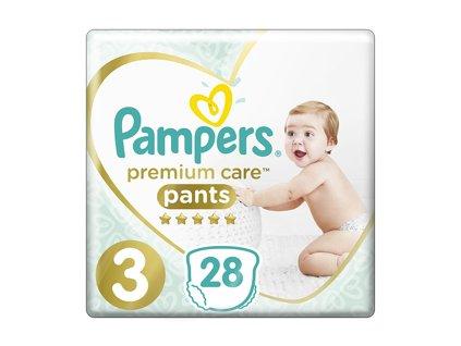 PAMPERS Premium Care Pants 3 MIDI (6-11 kg) 28 ks Carry Pack – plenkové kalhotky