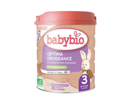 BABYBIO OPTIMA 3 Croissance kojenecké bio mléko (800 g)