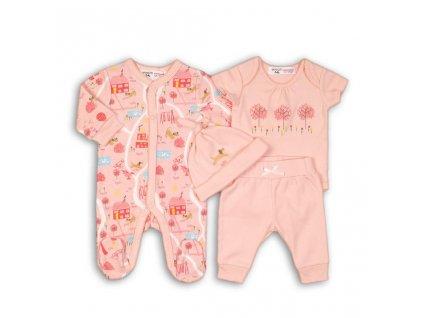 Dárkový set kojenecký, Minoti, PARK 3, růžová