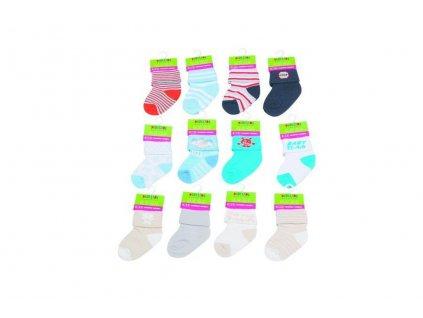 Kojenecké ponožky chlapecké (0 až 6m), Pidilidi, PD501, kluk