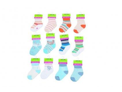Kojenecké ponožky chlapecké (6 až 12m), Pidilidi, PD502, kluk
