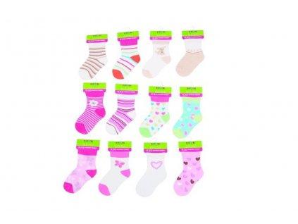 Kojenecké ponožky dívčí (12 až 18m), Pidilidi, PD504, holka