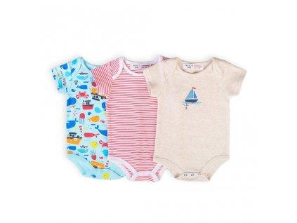 Body kojenecké 3pack, Minoti, Ship 10, kluk