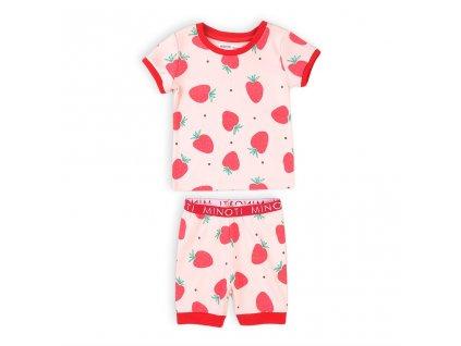 Pyžamo dívčí krátké, Minoti, TG PYJ 9, růžová
