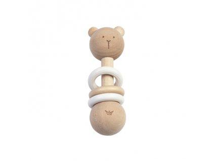 BAMBAM   Chrastítko dřevěné - medvídek