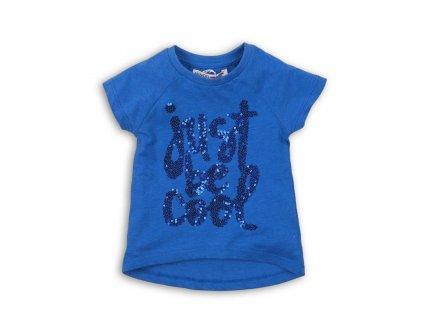Tričko dívčí s krátkým rukávem, Minoti, vibe 7, modrá