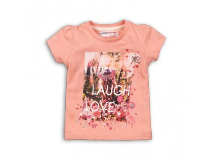 Tričko dívčí s krátkým rukávem, Minoti, daydream 4, růžová