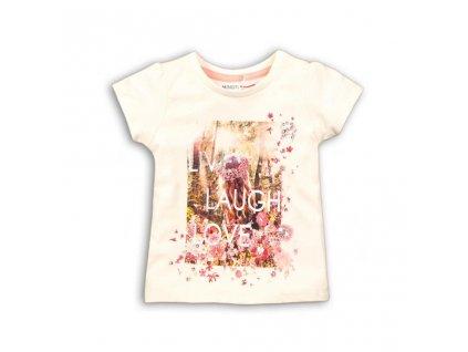 Tričko dívčí s krátkým rukávem, Minoti, daydream 4, bílá