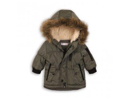 Kabát chlapecký Parka podšitý chlupem, Minoti, RANGER 2, zelená