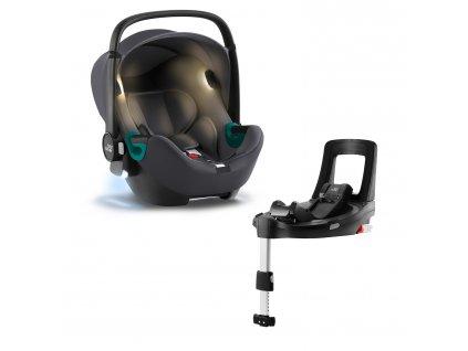 Autosedačka Baby-Safe iSense Bundle Flex iSense, Midnight Grey