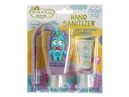 Jack N' Jill Antibakteriální gel na ruce Jednorožec 2x29 ml + pouzdro