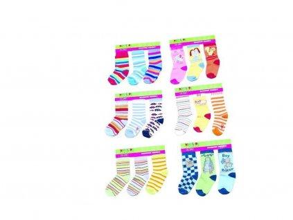 dětské kojenecké ponožky (2/3r.), Pidilidi, PD111, mix