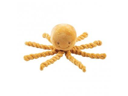 NATTOU První hračka pro miminka chobotnička PIU PIU Lapidou okrová 0m +