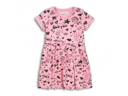 Šaty dívčí bavlněné, Minoti, 2KDRESS30, růžová