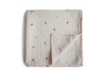 Mushie mušelínová zavinovačka z organické bavlny