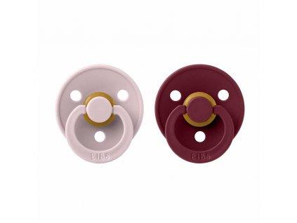 BIBS Colour dudlíky z přírodního kaučuku 2ks - velikost 2