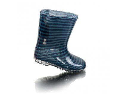 chlapecké holínky PVC - potisk modré pruhy, Pidilidi, PL0091, modrá