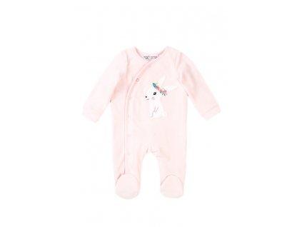 Overal kojenecký sametový, Minoti, Robbin 1, růžová