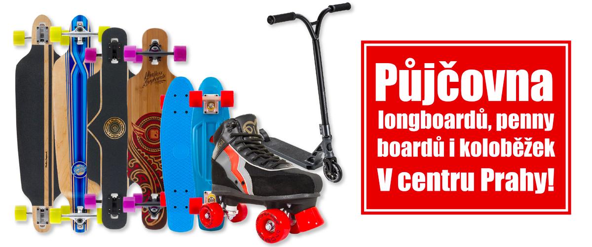 Půjčovna longboardů, Penny boardů, koloběžek a trekových bruslí | Honzovy longboardy