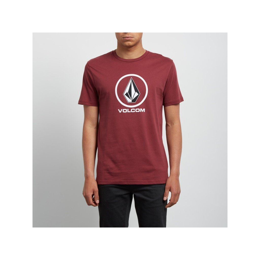 Volcom - Crisp Bsc Ss Crimson - Pánské triko