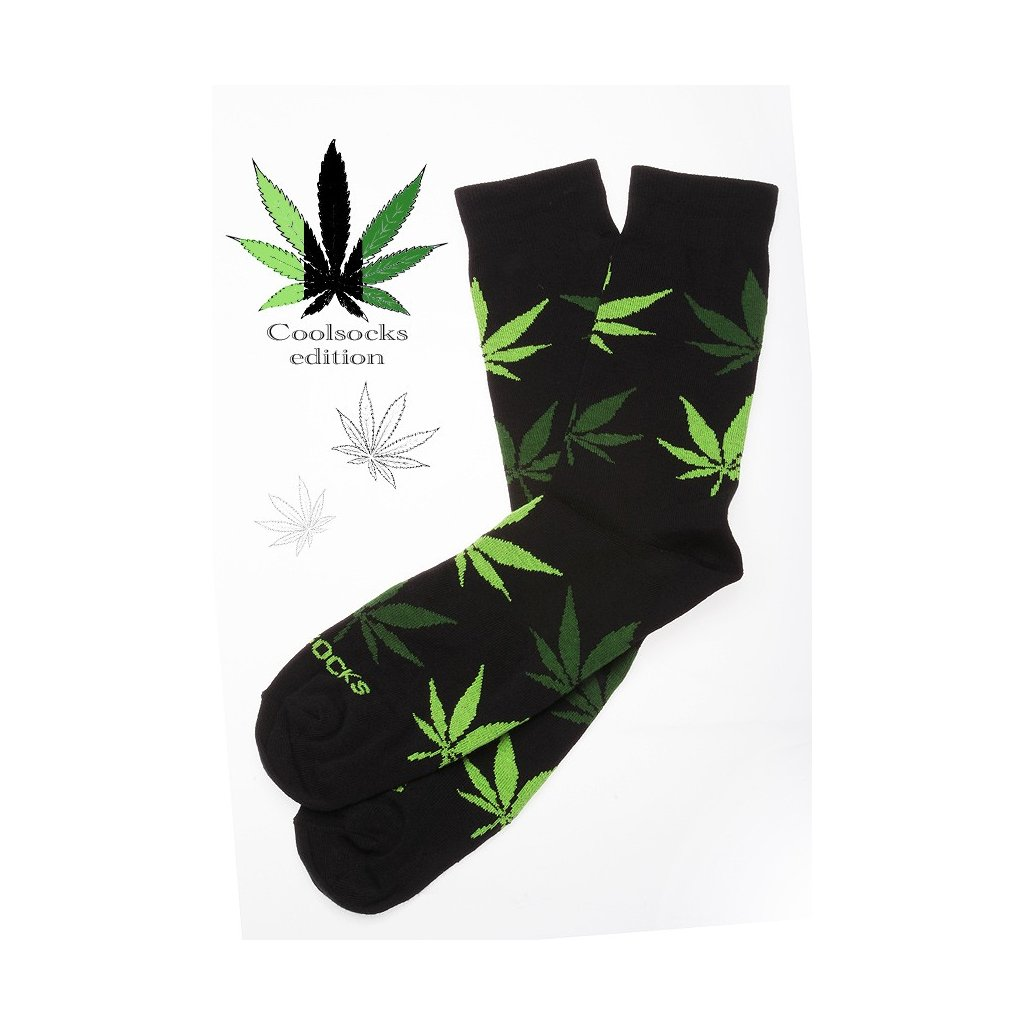 Coolsocks - Ponožky s motivem - Černo-zelené