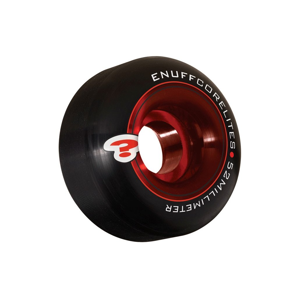 Enuff - Corelites 52 mm - 101a - Black/Red - kolečka (sada 4ks)