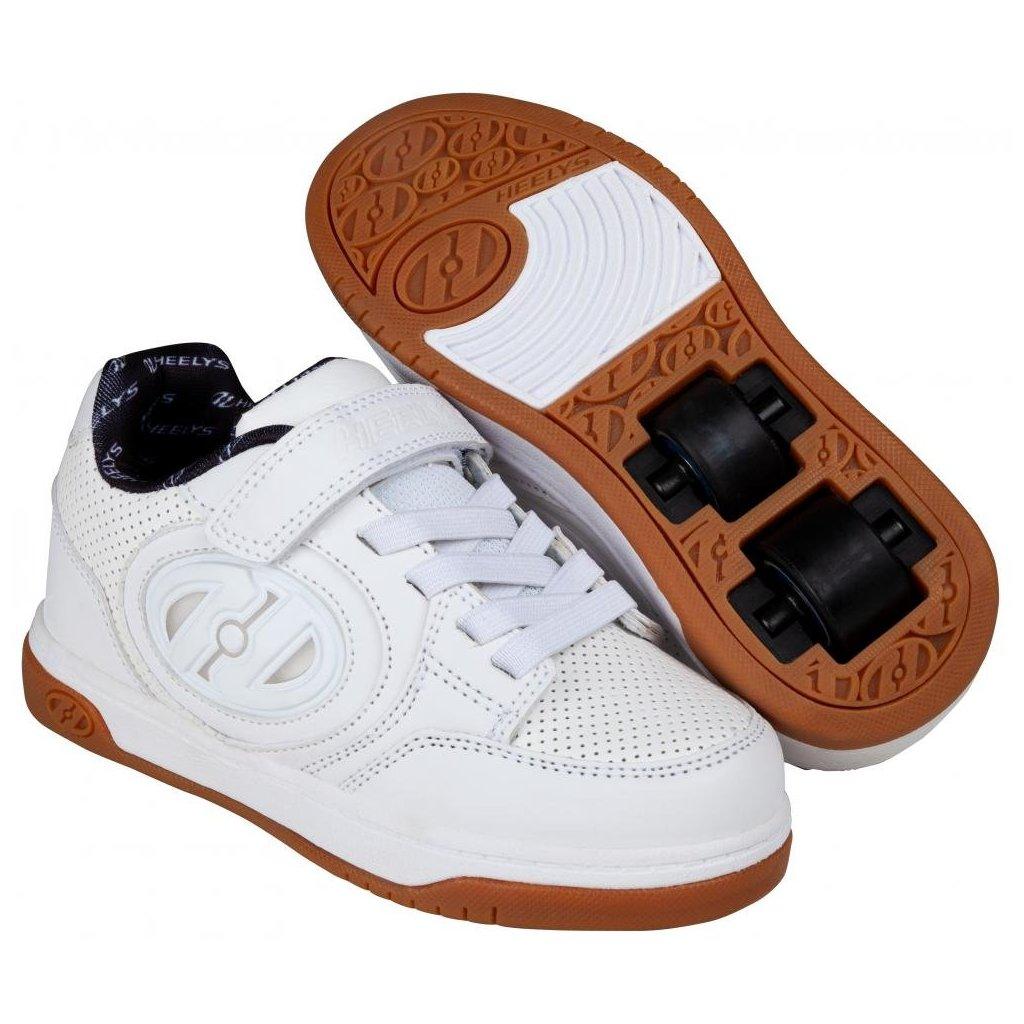 Heelys - Plus X2 Lighted White/White/Gum - koloboty
