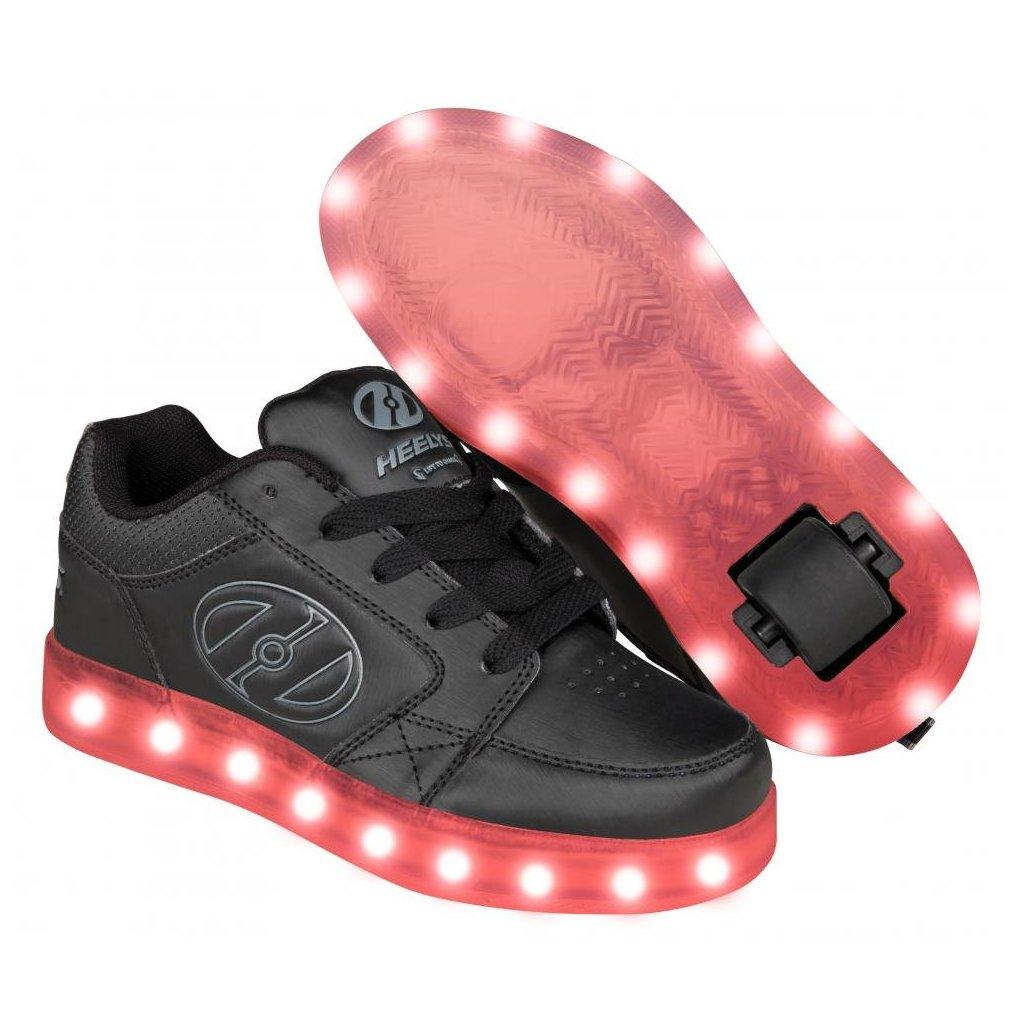 Heelys - Premium 2 Lo Black/Grey - koloboty
