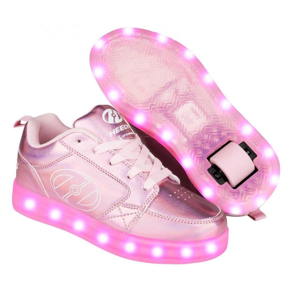 Heelys - Premium 2 Lo Light Pink Hologram - koloboty