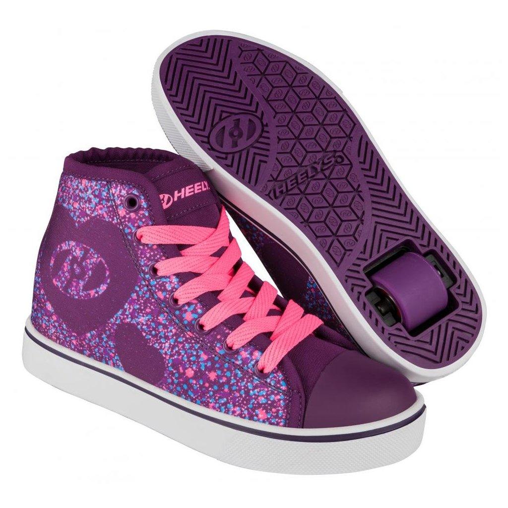 Heelys - Veloz Purple/Pink/Heart - koloboty