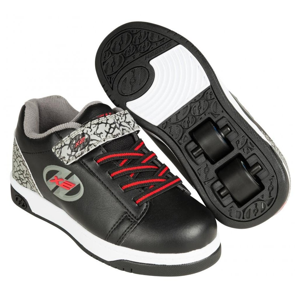 Heelys - X2 Dual Up Black/Grey/Elephant - koloboty
