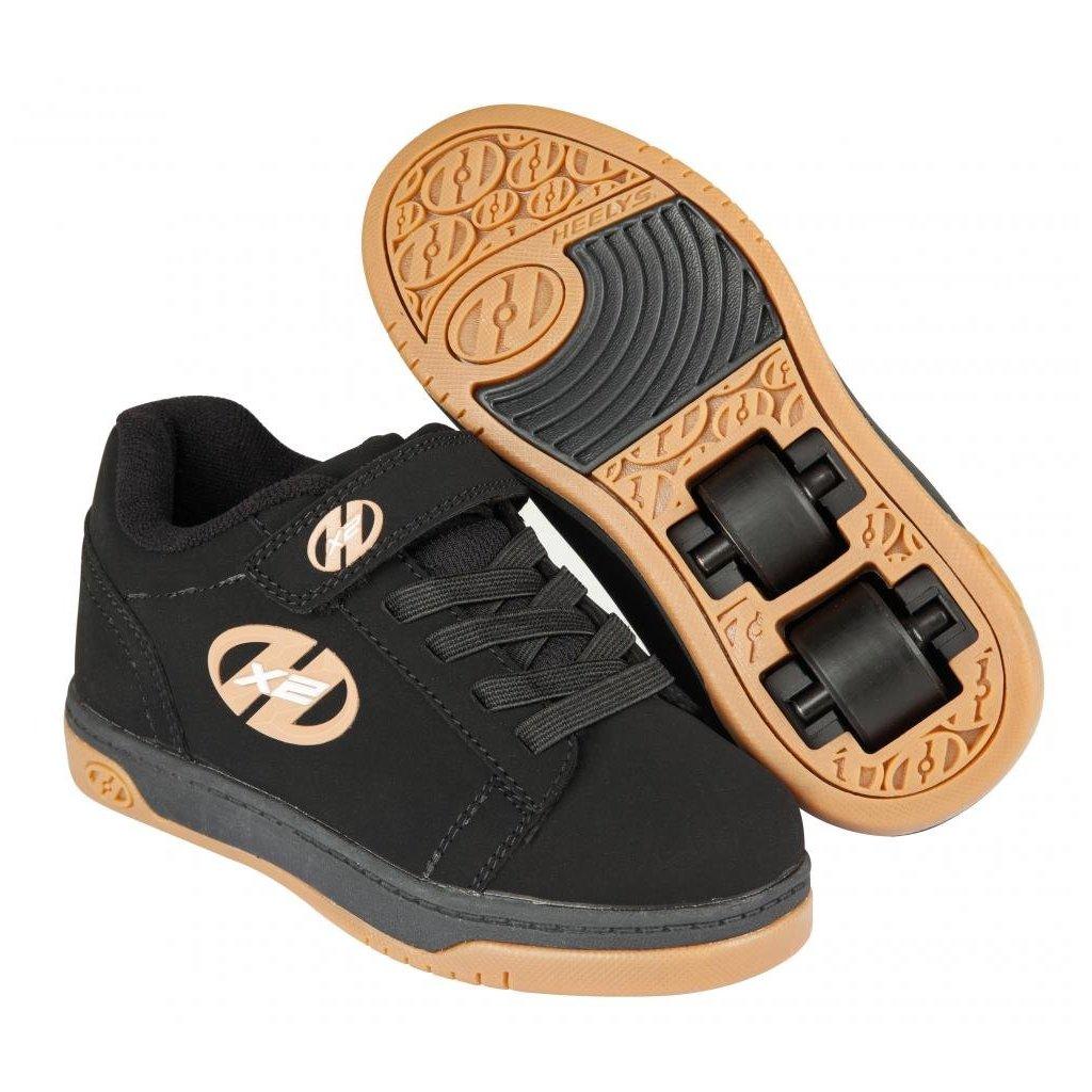 Heelys - X2 Dual Up Black/Gum - koloboty