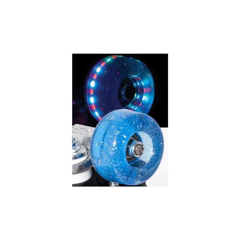 Rio - Roller Light Up - Blue Glitter (sada 4 koleček)