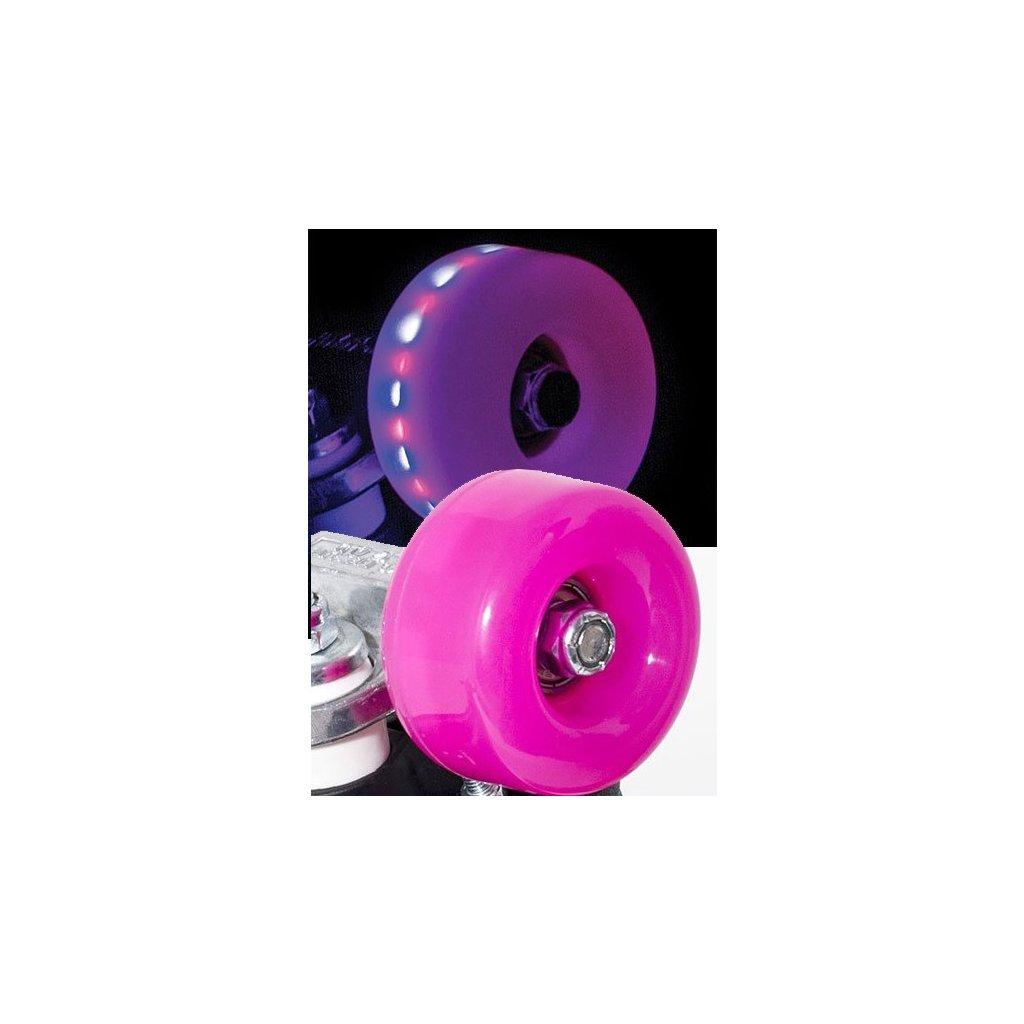 Rio - Roller Light Up - Pink Frost (sada 4 koleček)
