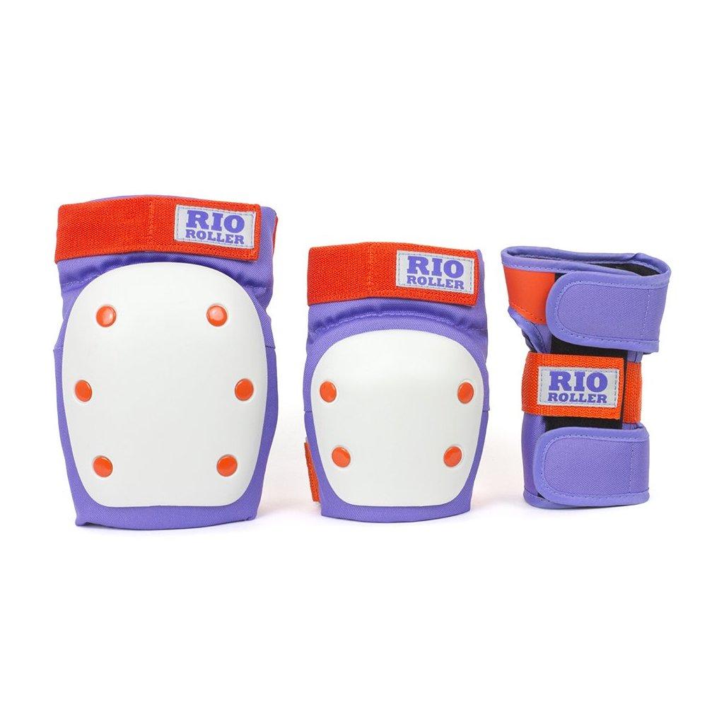 Rio Roller - Dámská Sada chráničů Purple/Orange