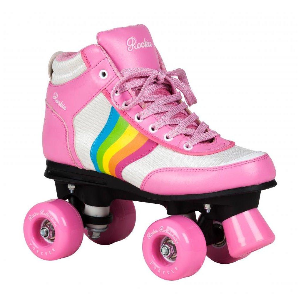 Rookie - Forever Rainbow Pink - trekové brusle