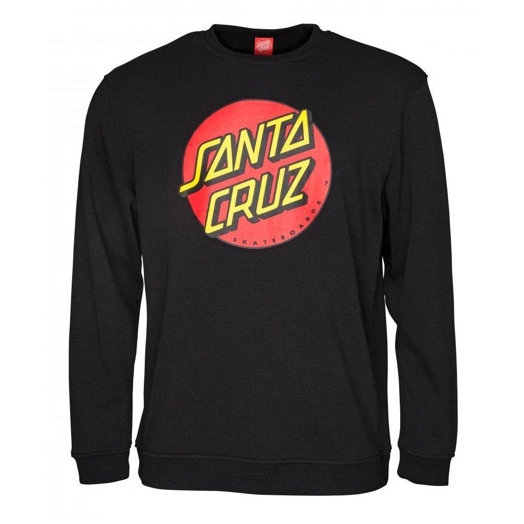 Santa Cruz - Crew Classic Dot Black - Pánská mikina