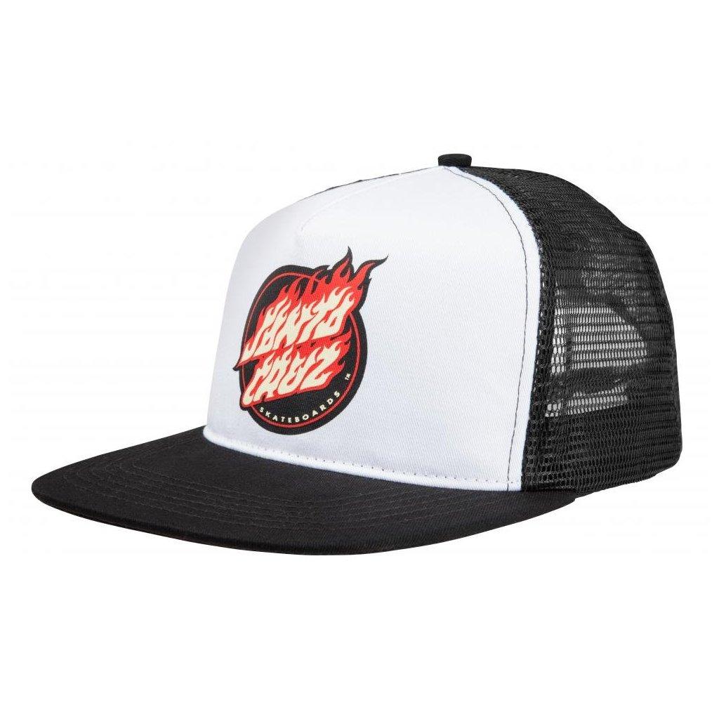 Santa Cruz - Flame Dot Cap - Black - Pánská čepice
