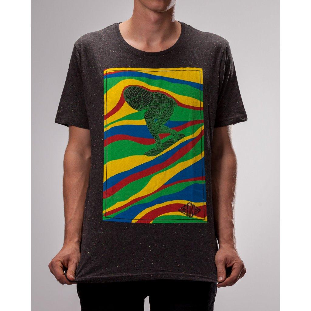 Shine - Mushroom Rider Antracit - Pánské triko