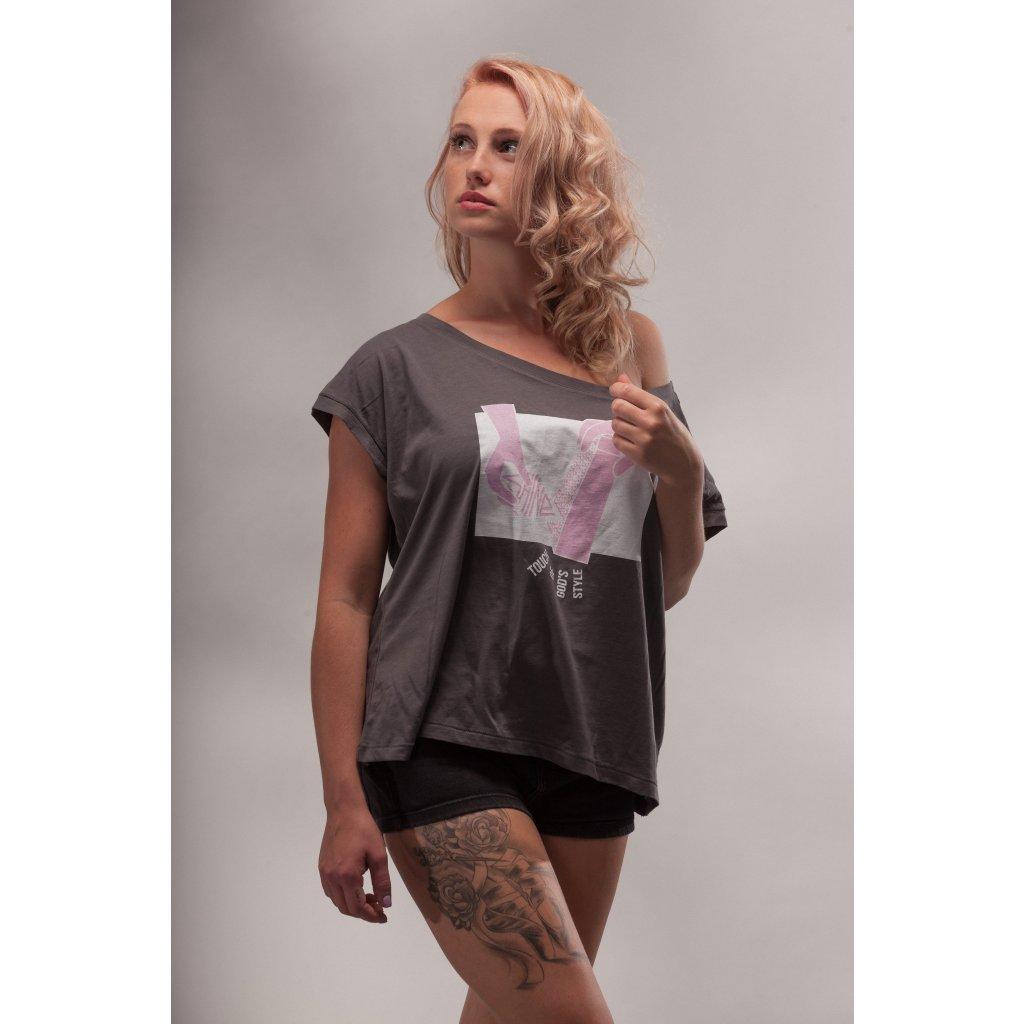 Shine - Shine Cut Grey - Dámské tričko